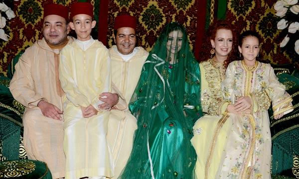 Mohammed VI e famiglia  con Principe Moulay Rachid e sposa
