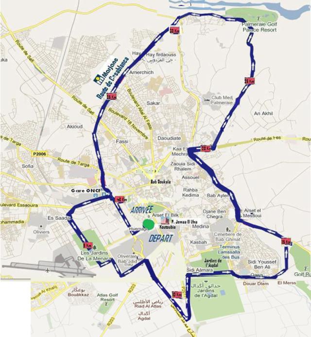 percorso maratona